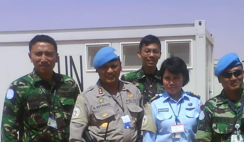 Rekan TNI dari SO (Staff Officer) UNAMID